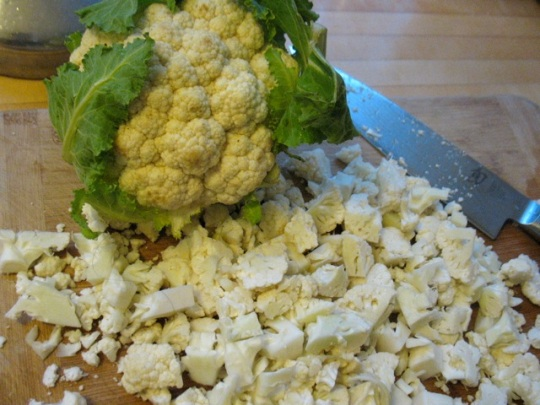 The cauliflower at the Portland Farmers Market this winter has been so sweet and beautiful.