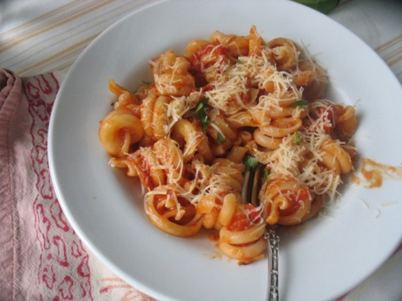 For dinner with pasta and basil.
