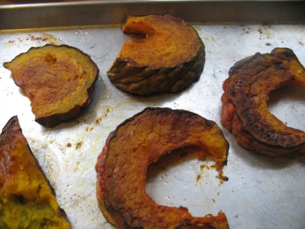 roasted squash wedges